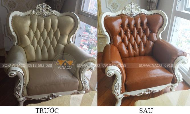Bọc ghế sofa tân cổ điển đẹp