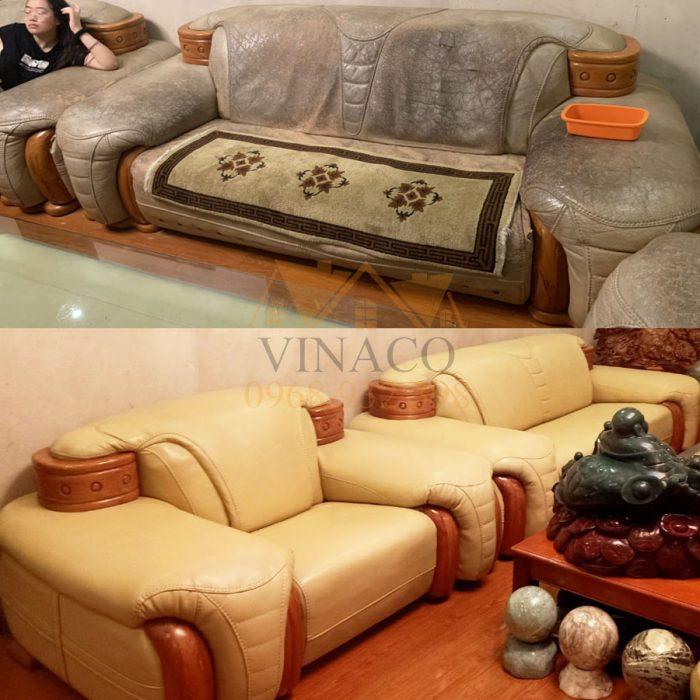 Bọc lại bộ ghế sofa bẩn tại Nguyễn Trãi, Thanh Xuân, Hà Nội