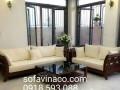Làm đệm ghế gỗ phòng khách tại Vinaco