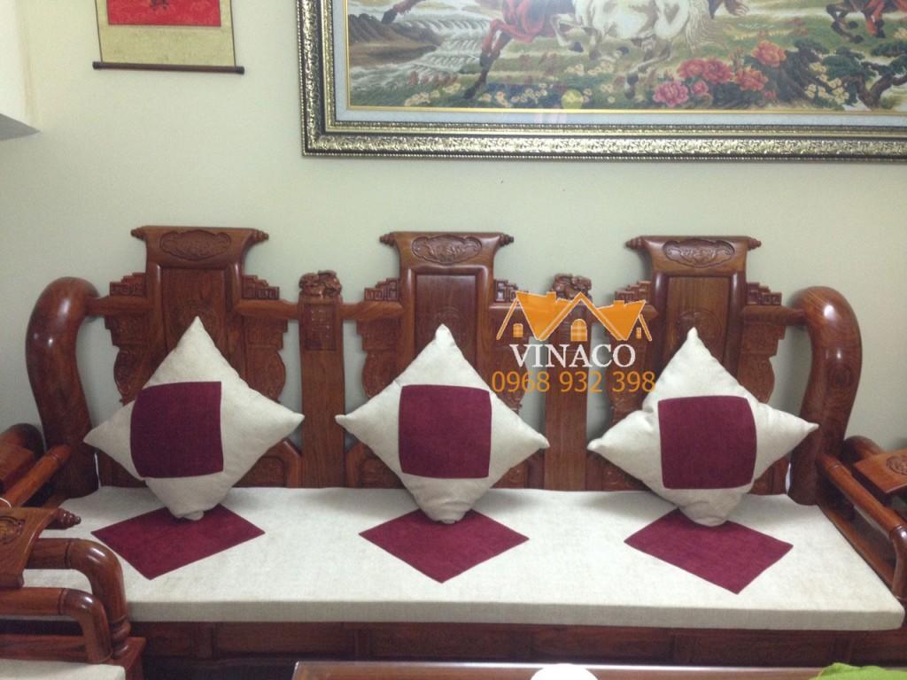 Bộ đệm ghế may trám tại An Dương Vương