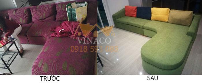 Bọc ghế sofa giá rẻ, đổi màu ghế sofa cũ