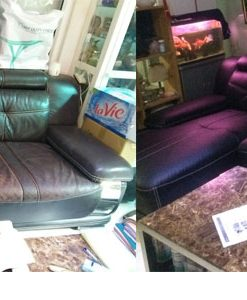 Bộ ghế sofa trước và sau khi bọc lại tại đường Giải Phóng