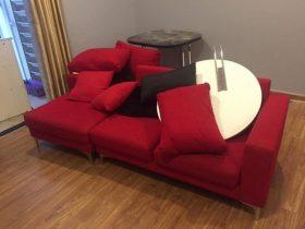 Bộ ghế sofa cần thay vỏ nhà anh Việt ở Times City