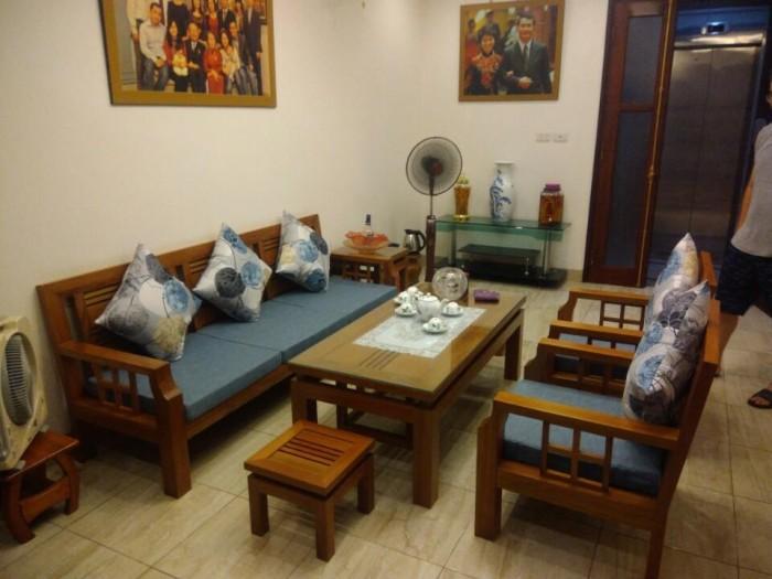 Bộ ghế nhà chú Quang sau khi đặt đệm của Vinaco