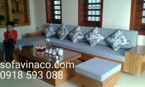 Bộ đệm ghế gỗ nhà chị Hương sống tại Thanh Hóa