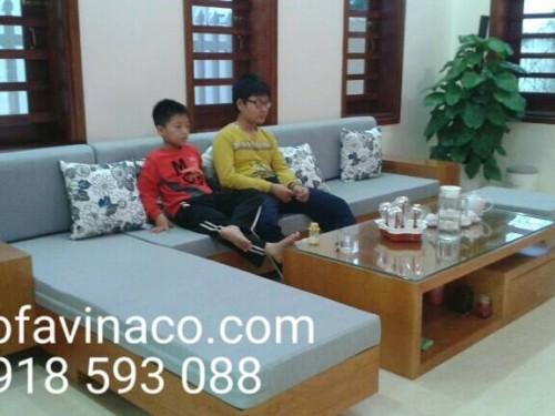 Bộ đệm ghế gỗ phòng khách gửi về Thanh Hóa