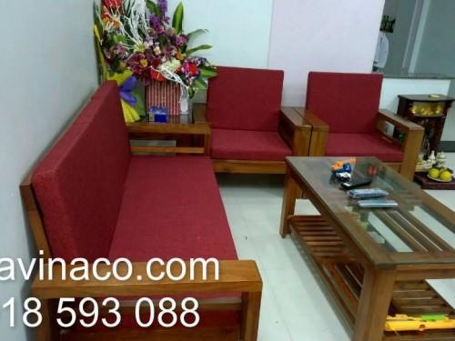 Bộ đệm ghế do gia đình tự chụp và gửi về cho Vinaco