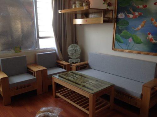 Bộ đệm ghế gỗ đã hoàn thành tại Xuân Phương, quận Từ Liêm