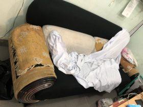 Bộ ghế sofa cũ nhà chị Huyền sống tại Vũ Ngọc Phan