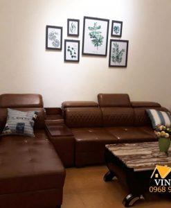 Bộ ghế sofa khi vẫn còn ở showroom