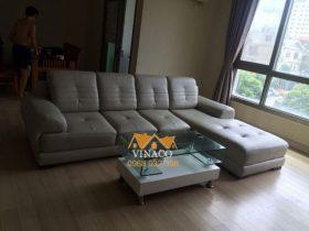 Dịch vụ bọc ghế sofa của VInaco đã bọc xong cho bộ ghế sofa nhà anh Dũng