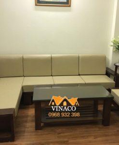Bộ đệm ghế bằng da đã hoàn thành cho gia đình sống tại Nguyễn Công Trứ