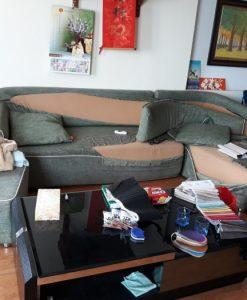 Bộ ghế sofa vải của nhà anh Mạnh