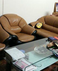 Bộ ghế sofa da của gia đình chị Hạnh ở Quan Nhân, Thanh Xuân