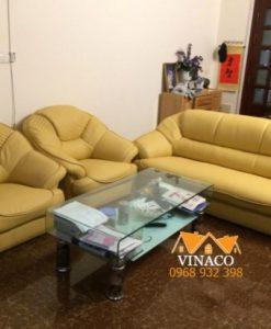 Công trình bọc lại da ghế sofa đã hoàn tất
