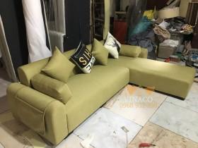 Mẫu ghế sofa màu xanh ô liu đặc biệt