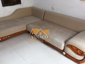 Dịch vụ bọc ghế sofa đã giúp cho bộ ghế cảu bác Dần thay đổi hoàn toàn