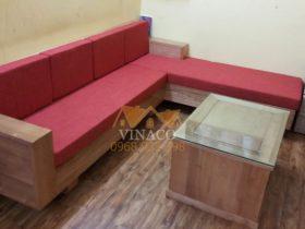 Đệm ghế gỗ L với kích thước vừa vặn