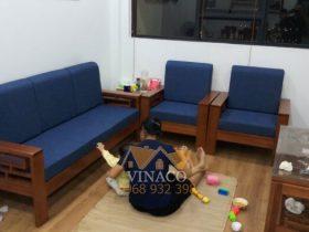 Bộ đệm ghế đã làm xong cho anh Khoát ở Kim Văn, Kim Lũ