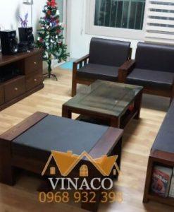 Bộ đệm ghế da của chị Nhung ở Mỹ Đình 3 Hà Nội