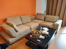 Công trình bọc ghế sofa giường đã được hoàn tất, bộ ghế đã trở lại như mới mua
