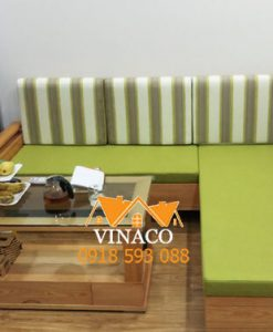 Bộ đệm ghế màu xanh matcha làm cho chị Ly ở Nam La Khê 368B Quang Trung