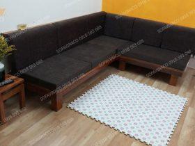 Bộ đệm ghế màu đen đã được giao và lắp đặt cho gia đình anh Linh ở Quan Hoa, Cầu Giấy