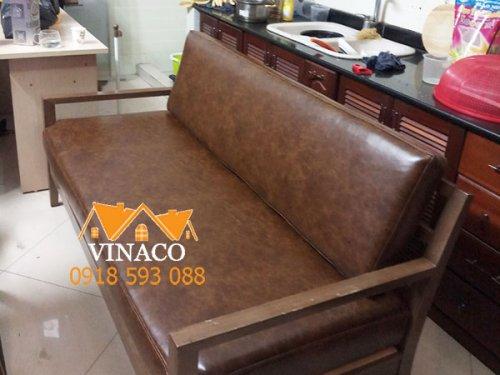 Bộ đệm ghế da được làm cho khách hàng ở Quang Trung, Hà Đông