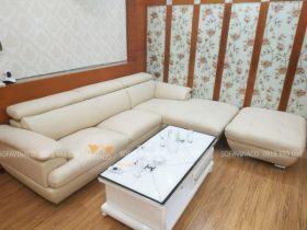 Dịch vụ bọc ghế sofa trùng nhão đã thay da mới cho bộ ghế ở Xuân La