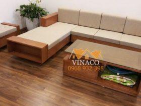 Bộ đệm ghế sofa L được làm theo kích thước tại Liễu Giai, Cầu Giấy