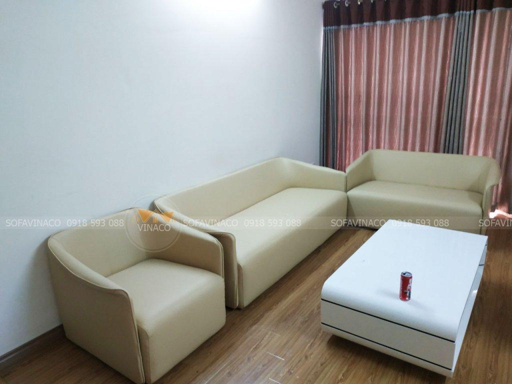 Bộ ghế sofa đã được thay da mới
