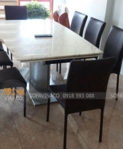 Dịch vụ bọc ghế ăn của Vinaco đã giúp tăng độ sang trọng của bộ ghế