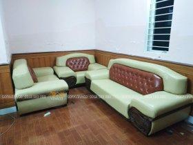 Dịch vụ bọc lại ghế sofa da của Vinaco đã thay da mới cho bộ ghế tại Vĩnh Yên