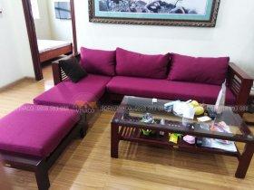 Bộ đệm ghế màu tím theo kích thước tại Ngô Quyền, Hà Đông