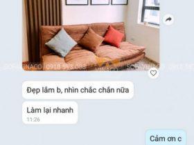 Feedback của khách hàng về bộ sofa giường sau khi bọc