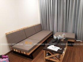 Bộ đệm ghế pallet cho gia đình khách hàng ở Nguyễn Xiển, Thanh Xuân