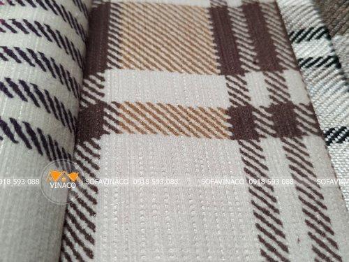 Các mặt vải được dệt kiểu khác nhau