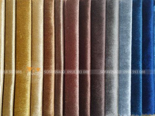 Các màu của mẫu vải nhung N60