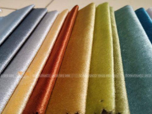 Chi tiết mặt vải của mẫu vải nhung N60 chuyên dùng là vỏ đệm ghế, bọc ghế sofa