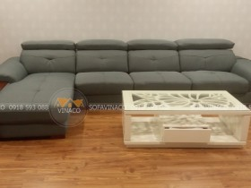 Bộ sofa da thật đã được bọc vải