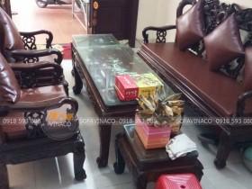 Bộ đệm ghế da mà Vinaco đã hoàn thành cho khách hàng ở Thanh Trì