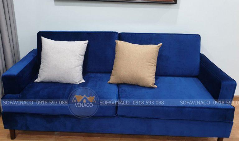 Dịch vụ bọc ghế sofa đã đóng xong bộ sofa cho anh Hùng