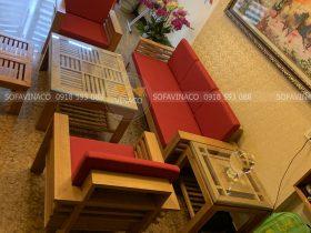 Bộ đệm ghế màu đỏ đã làm cho chị Giang ở Yên Bái