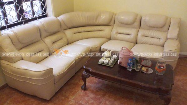 Bọc da ghế sofa tại Tây Hồ đã được hoàn thành