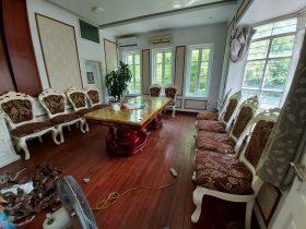 Công trình bọc ghế ăn nhà hàng tại Thọ Tháp đã được hoàn thành