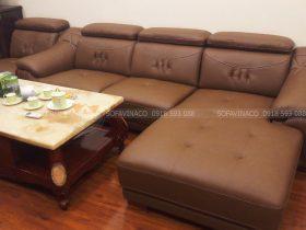 Công trình bọc mới sofa da cho chú Tuấn ở Hoàng Minh Giám, quận Hoàn Kiếm