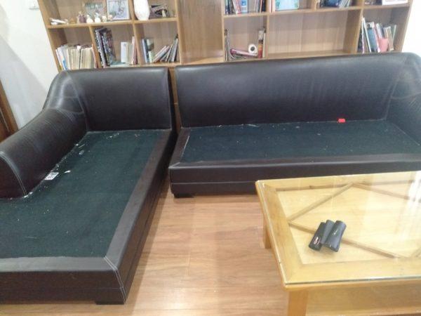 Bộ sofa da của khách hàng ở chung cư Discovery Complex