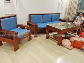Bộ đệm ghế đã được giao đến cho gia đình anh Hà ở Hà Đông