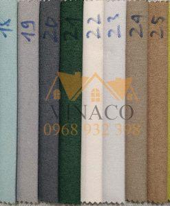 Bảng màu của mẫu vải nỉ TM07