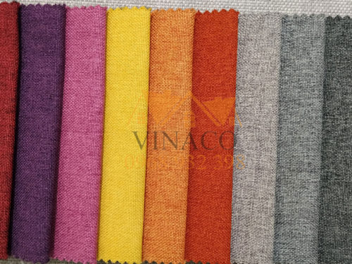Các màu của mẫu vải thô H22